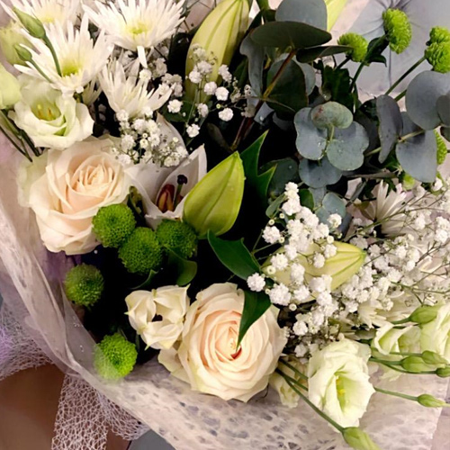 Luxury Bouquet White & Green